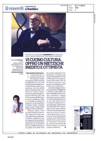 Il Venerdi di Repubblica Intervista Marinotti